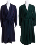 Movie/TV Memorabilia:Costumes, Two Monogrammed Robes, 1960s.... (Total: 2 Items)