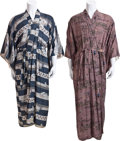 Movie/TV Memorabilia:Costumes, Two Japanese Robes, 1950s.... (Total: 2 Items)