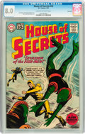 Silver Age (1956-1969):Horror, House of Secrets #46 Savannah pedigree (DC, 1961) CGC VF 8.0 Creamto off-white pages....
