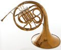 Musical Instruments:Horns & Wind Instruments, 1920's Schmidt Brass French Horn #34849...