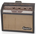 Musical Instruments:Amplifiers, PA, & Effects, 1960's Epiphone Pacemaker Gray Guitar Amplifier #841-029...