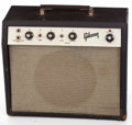Musical Instruments:Amplifiers, PA, & Effects, 1966 Gibson GA-5T Black Guitar Amplifier #A015150...