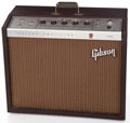 Musical Instruments:Amplifiers, PA, & Effects, 1962 Gibson Falcon GA-19 RVT Brown Guitar Amplifier #486443...