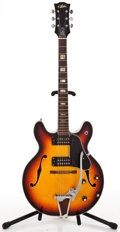 Musical Instruments:Electric Guitars, 1970's Aria Semi-Hollow Sunburst Semi-Hollow Body Electric Guitar#0104577...