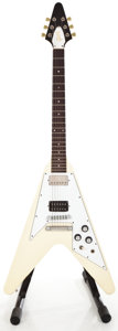 Musical Instruments:Electric Guitars, 1990 Gibson Flying V White Solid Body Electric Guitar #91080744...