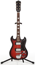 Musical Instruments:Electric Guitars, 1970's Trutone Solid body Red burst Solid Body Electric Guitar ...