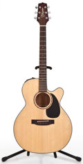 Musical Instruments:Acoustic Guitars, 1996 Takamine EF440C Natural Acoustic Electric Guitar #96090695...