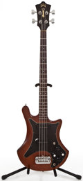 Musical Instruments:Bass Guitars, 1970's Guild B302 Mahogany Electric Bass Guitar #184759...