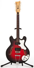 Musical Instruments:Electric Guitars, 1960s Moserite Celebrity 3 Sunburst Semi-Hollow Body Electric Guitar #W-0129...