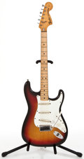 Musical Instruments:Electric Guitars, 1974 Fender Stratocaster Sunburst Solid Body Electric Guitar#579732...