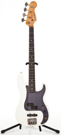 Musical Instruments:Bass Guitars, 1980's Kubicki P/J Bass White Electric Bass Guitar ...