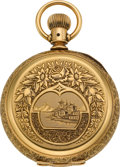 Timepieces:Pocket (pre 1900) , Waltham 14k Gold 18 Size Hunters Case, circa 1886. ...