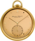 Timepieces:Pocket (post 1900), International Watch Co. Gold Pocket Watch With Original Box &Papers. ...