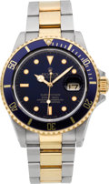 Timepieces:Wristwatch, Rolex Ref. 16803 Two Tone Submariner, circa 1987. ...