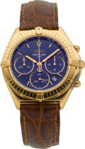 Timepieces:Wristwatch, Breitling K55046 Gold Chronograph. ...