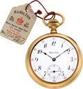 Timepieces:Pocket (post 1900), Hamilton 14k Gold B. of L. E. Presentation Grade 950 Watch, circa1911. ...