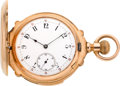 Timepieces:Pocket (pre 1900) , LeCoultre Gold Five Minute Repeater, circa 1895. ...