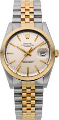 Timepieces:Wristwatch, Rolex Ref. 15003 Two Tone Gent's Oyster Perpetual Date, circa 1985....