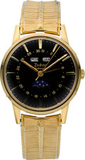 Timepieces:Wristwatch, Zodiac New/Old Stock Triple Calendar Moon Phase Automatic. ...