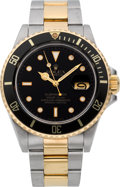Timepieces:Wristwatch, Rolex Ref. 16800 Steel & Gold Submariner, circa 1987. ...