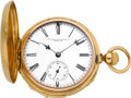 Timepieces:Pocket (pre 1900) , A. Lang & Padoux Geneva Small Gold Quarter Hour Repeater, circa 1880's. ...