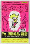"Movie Posters:Sexploitation, The Immoral West (Pad-Ram Enterprises, 1962). One Sheet (28"" X42""). Sexploitation.. ..."