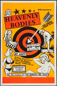 "Heavenly Bodies (Eve Productions, 1963). One Sheet (28"" X 42""). Sexploitation"