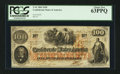 Confederate Notes:1862 Issues, T41 $100 1862 PF-12 Cr. 317A Felix Senac Paymaster.. ...