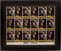 Basketball Collectibles:Photos, John Wooden and Bill Walton Multi Signed Photograph Display....