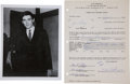 Music Memorabilia:Autographs and Signed Items, Gene Pitney and Dick Clark Signed Contract....