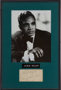 Music Memorabilia:Autographs and Signed Items, Jackie Wilson Autograph Display....