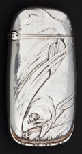 Silver Smalls:Match Safes, A GORHAM SILVER AND SILVER GILT MATCH SAFE . Gorham ManufacturingCo., Providence, Rhode Island, 1880. Marks: (lion-anchor-G...