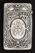 Silver Smalls:Match Safes, A GORHAM SILVER MASONIC MATCH SAFE . Gorham Manufacturing Co.,Providence, Rhode Island, 1912. Marks: (lion-anchor-G),STE...