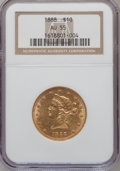 Liberty Eagles: , 1888 $10 AU55 NGC. NGC Census: (42/371). PCGS Population (45/137).Mintage: 132,996. Numismedia Wsl. Price for problem free...