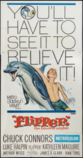 """Movie Posters:Adventure, Flipper and Other Lot (MGM, 1963). Three Sheets (2) (41"""" X 81"""").Adventure.. ... (Total: 2 Items)"""