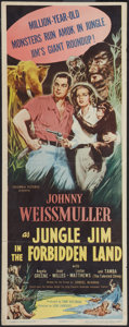 "Movie Posters:Adventure, Jungle Jim In the Forbidden Land (Columbia, 1951). Insert (14"" X36""). Adventure.. ..."