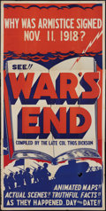 "Movie Posters:War, War's End (Unknown, 1934). Three Sheet (41"" X 81""). WarDocumentary.. ..."