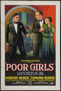 "Movie Posters:Drama, Poor Girls (Columbia, 1927). One Sheet (27"" X 41"") Style A. Drama.. ..."