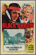 "Movie Posters:Serial, Black Arrow (Columbia, R-1955). One Sheet (27"" X 41""). Chapter 7 -- ""The Chamber of Horror."" Serial.. ..."