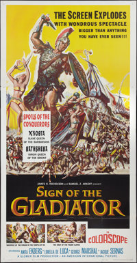 """Sign of the Gladiator & Other Lot (American International, 1959). Three Sheets (2) (41"""" X 81""""). Adventure..."""