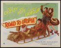 "Movie Posters:Comedy, Road to Utopia (Paramount, 1946). Half Sheet (22"" X 28"") Style A. Comedy.. ..."