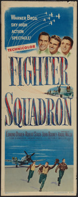 "Fighter Squadron (Warner Brothers, 1948). Insert (14"" X 36""). War"