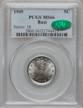Liberty Nickels, 1905 5C MS66 PCGS. CAC....