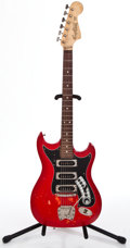 Musical Instruments:Electric Guitars, 1960's Hagstrom III Red Solid Body Electric Guitar #642222...