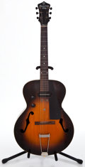 Musical Instruments:Electric Guitars, 1940's Gibson Recording King Model-A Sunburst Archtop ElectricGuitar ...