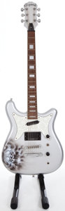 Musical Instruments:Electric Guitars, Recent Epiphone Coronet Silver Solid Body Electric Guitar ...