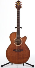 Musical Instruments:Acoustic Guitars, Recent Takamine EF508C Light Brown Acoustic Electric Guitar#00041101...