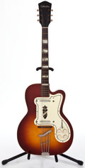 Musical Instruments:Electric Guitars, 1960's Silvertone Jimmy Reed Sunburst Semi-Hollow Body Electric Guitar...