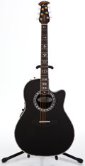 Musical Instruments:Acoustic Guitars, Recent Ovation 1769-ABII Black Acoustic Electric Guitar #587702...