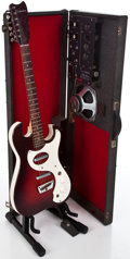 Musical Instruments:Electric Guitars, 1960's Silvertone Amp-In-Case Red Burst Solid Body Electric Guitar #N/A...